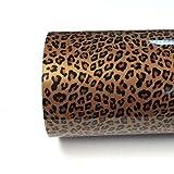 Leopard Stellar Prints 20' x 5' (Feet) Iron on Printed Heat Transfer Vinyl Roll, HTV (Leopard, 3 Feet)