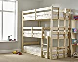 EURO Three sleeper Bunkbed - 3ft Single Triple sleeper Bunk Bed - VERY STRONG BUNK