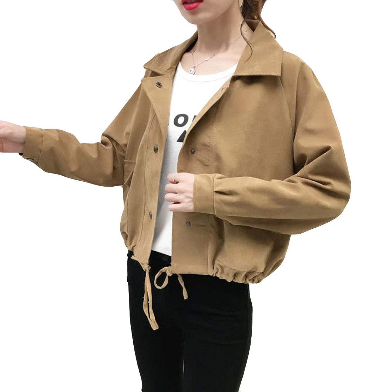 (ニカ)レディース コート ジャケット ブルゾン 原宿系 ストリート系 BF風 シンプル韓国ファッション 春 秋 夏 ゆったり ジャンパー ブルゾン おしゃれ 長袖 カジュアル アウター