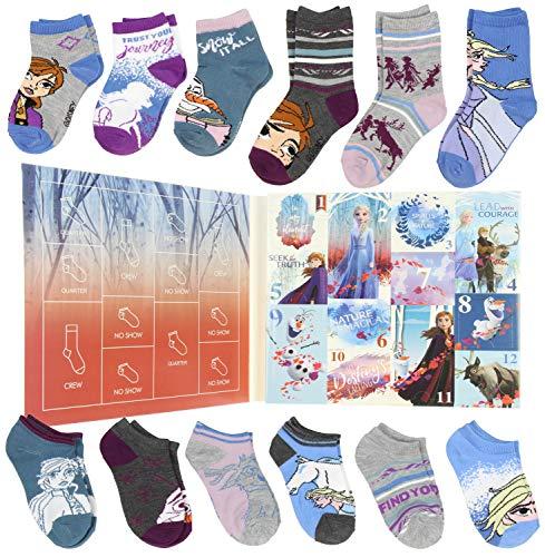 Disney Frozen II Girls 12 Days of Socks Holiday Advent Calendar (4/6)