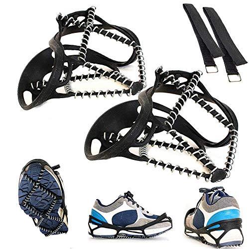 Aomier Crampones para botas de montaña, senderismo al aire libre, cadenas de nieve, accesorios para caminar.