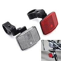 MFC PRO 自転車汎用 JIS規格 調節可能 ハンドル シートステイ フロント/リア リフレクター ブラケット付き 反射 (前(白) + 後(赤))