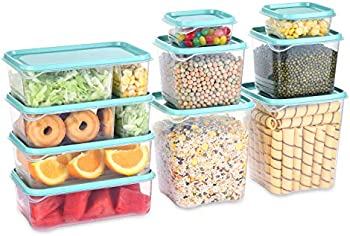 Set of 5 Fresh Friend Food Storage Containers with Lids