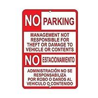 新金属マークアルミマーク駐車管理盗難被害マークは責任なし8インチ×12インチ