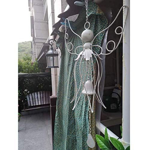 LXYZ Papillon carillons éoliens rétro en Fer forgé Suspendus Carillon Ornement Cloche décoration de la Maison, Blanc