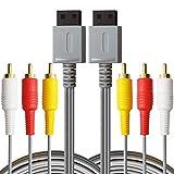 AreMe AV-Kabel für Nintendo Wii und Wii U, 2 Packungen