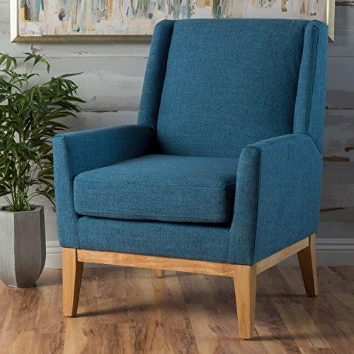 GDF Studio Archibald Mid Century Modern Fabric Accent Chair (Blue)