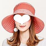 Sonnenhut-Sonnenbrille Sonnenhut-weiblicher Koreanischer Sommer-Sonnen-Maske Spielraum-wildes UVfreies Rollendes Bequemes Tragen Art- Und Weiseschatten ZHAOYONGLI (Farbe : Orange, größe :...