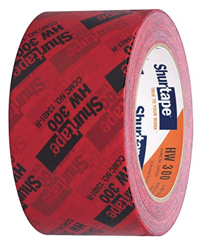 "AGN 134338 Shurtape HW-300 Housewrap Sheathing Tape: 2-1/2"" x 60 yd, Red/Black (Оne Расk) (Оne Расk)"