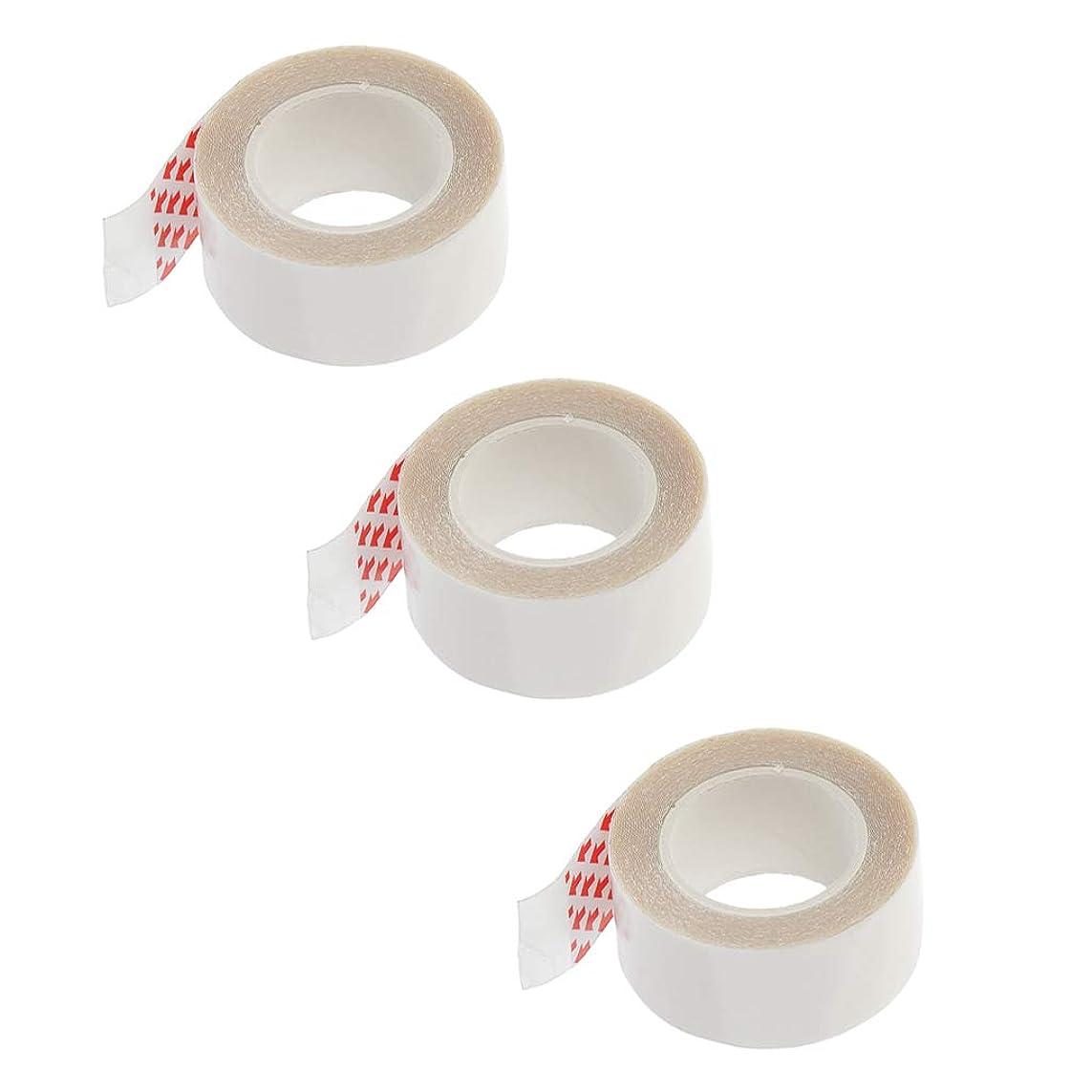 アカウント個性飲み込むT TOOYFUL 透明 テープ 固定用 両面テープ スキン ヘア エクステンション 化粧ツール 2cmx3m 3本
