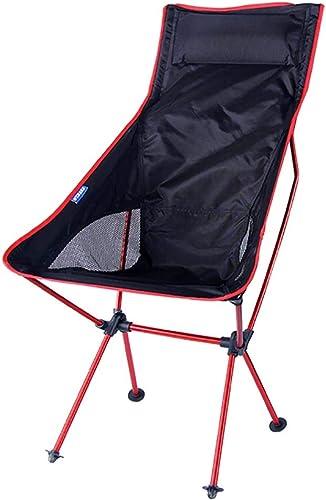 Mempers Chaise Pliante d'extérieur avec Dossier, Chaise de pêche, Support en Alliage d'aluminium, Tabouret portatif Confortable
