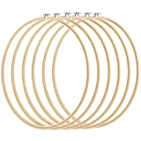 Caydo 6 Pieces 16 Inch Embroidery Hoops Cross Stitch Hoop Ring for Art Craft Handy Sewing, Wedding Wreath Decoration and Dream Catch