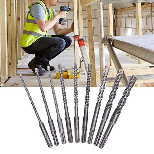 Aleación de acero 9pcs martillo eléctrico Crosshead broca para hormigón cerámica piedra