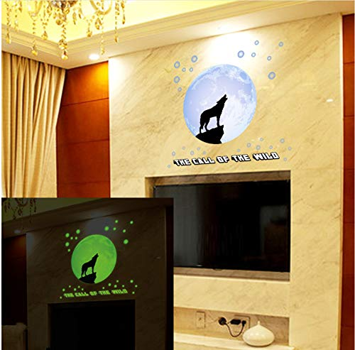 zwyluck Creatieve nachtlampje Maan Licht Wolf naam slaapkamer woonkamer decoratie achtergrond lichtsticker 48 * 44 cm