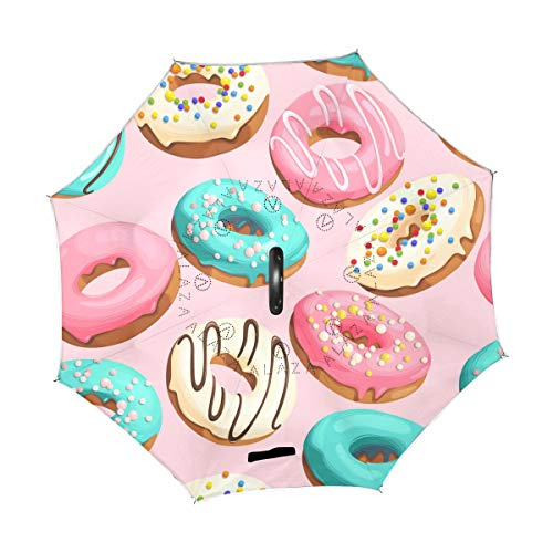 Purchase TropicalLife Double Layer Inverted Umbrella Cute Donut Reverse Umbrella