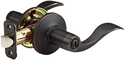 Master Lock WL0312P Wave Lever Privacy Door Lock, Aged Bronze