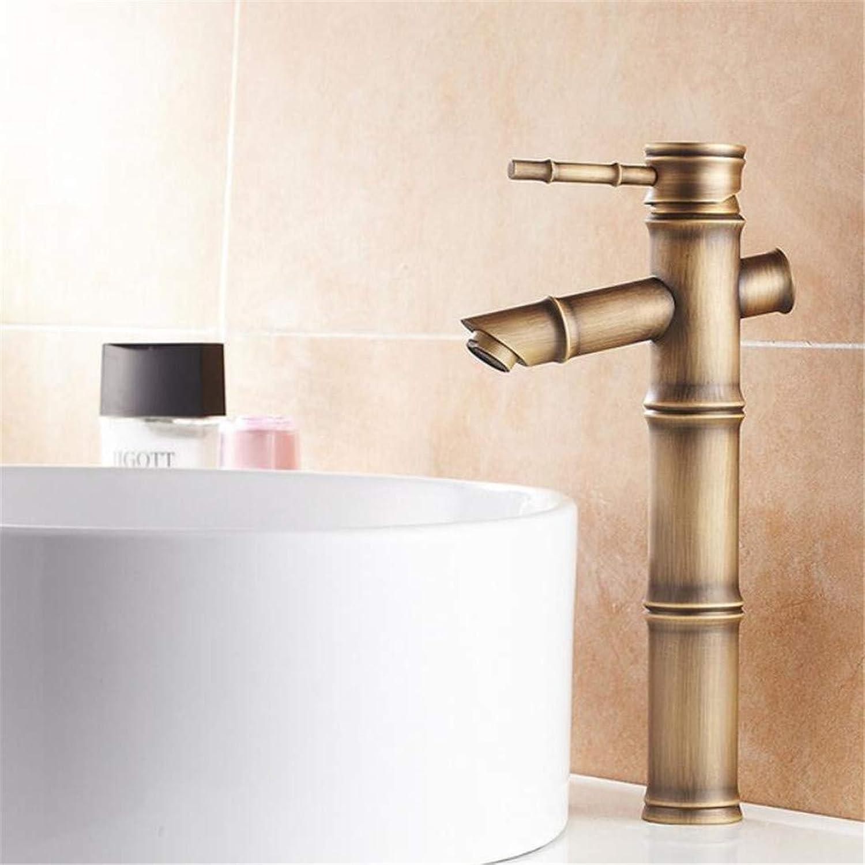 Faucet Washbasin Mixertall Antique Bamboo Bathroom Faucet Single Handle Bamboo Water Tap Antique Bronze Finish Brass Basin Sink Faucet Basin Faucet