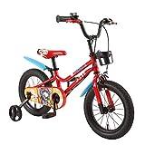 FUFU Bici del Deporte, Las Bicicletas con Ruedas Auxiliares Y Cestas, Bicicletas For Niños, 12,14,16Inch, 2-8year (Color : Red, Size : 12in)