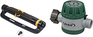 Melnor 65074-AMZ XT Turbo Oscillating Sprinkler with 2-Way Adjustment and QuickConnect..
