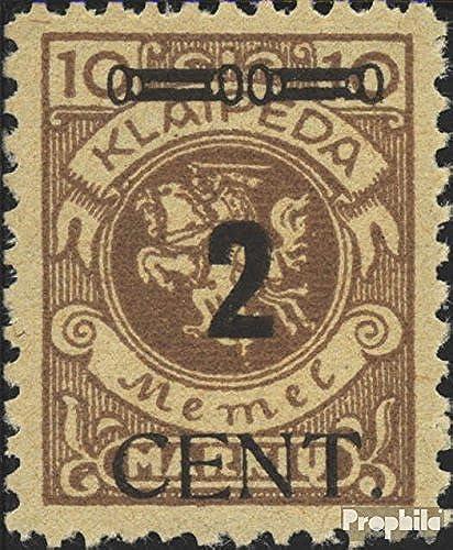 Memelgebiet 183 testés 1923 Numéro compléHommestaire (Timbres pour Les collectionneurs)