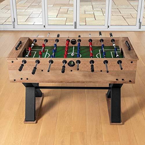 Pinpoint Mesa de Fútbol Futbolín de Madera para Adultos y Niños | Juego de Fútbol de Mesa con Bolas | Futbolin de Madera para Toda la Familia