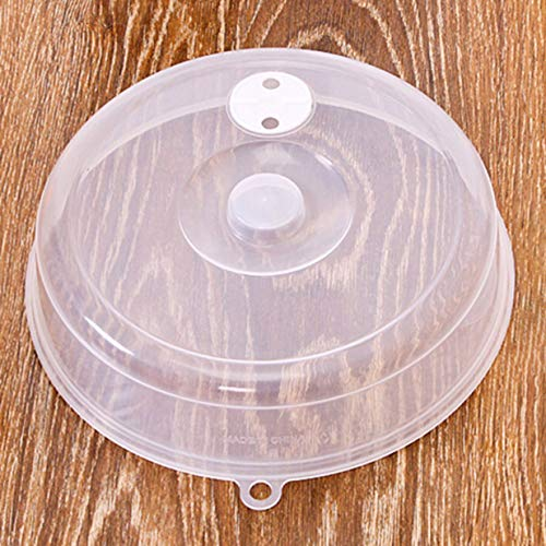 Timetided Cubierta de Sellado a Prueba de Aceite de calefacción de microondas pequeña/Grande Cubierta superpuesta Cubierta de Plato de refrigerador Cubierta de plástico
