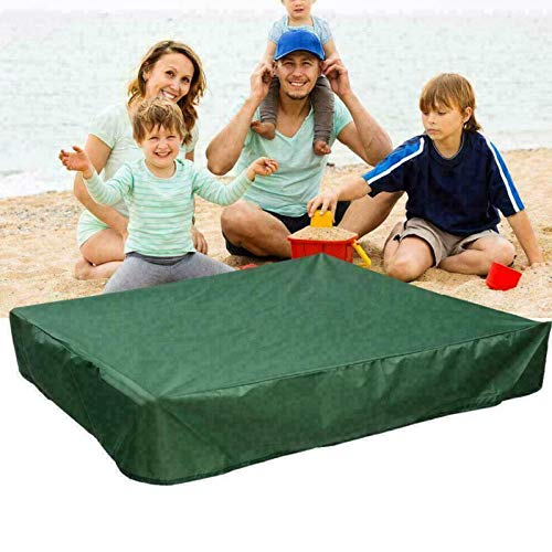 Maius Sandbox Cover, Square Protective Cover for Sand and Toys Away from Dust and Rain, Sandbox Canopy with Drawstring, Sandpit Pool Cover