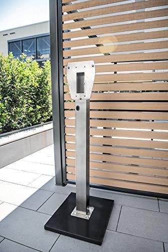 Heidelberg Wallbox 3Ph 400V 11kW 16A Typ 2 5m Ladestrom einstellbar Plus Edelstahlsäule, Wandhalterung - 2