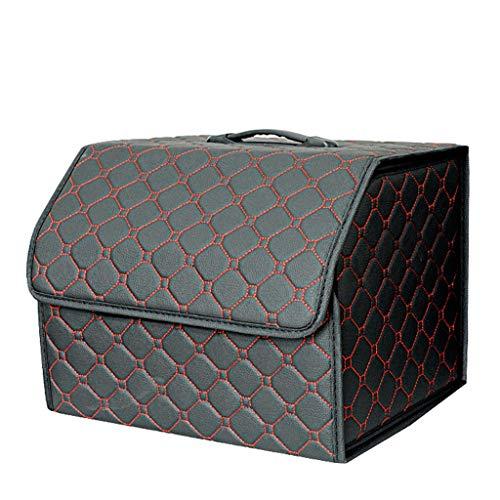 Unbekannt Aufbewahrungsboxen Kofferraum-Aufbewahrungsbox Auto-Aufbewahrungsbox faltbares Leder-Aufbewahrungsfach multifunktionale Interieurprodukte (Color : Black, Size : 54 * 31 * 30cm)