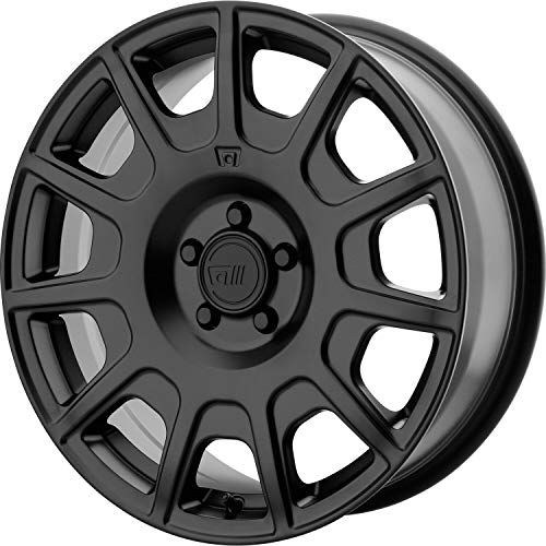 MOTEGI MR139 Satin Black Wheel with Painted and Chromium (hexavalent compounds) (16 x 7.5 inches /5 x 72 mm, 40 mm Offset)