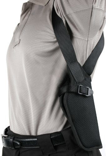 "BLACKHAWK Black Vertical Shoulder Holster, Size 02, Right Hand, (4"" Med/Inter DA Revolvers)"