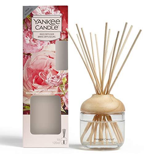 Yankee Candle - Difusor de varillas, Rosas frescas, 120 ml