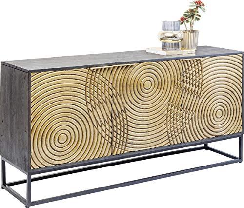Kare Design Sideboard Circulo, Massivholz Sideboard, verziertes Sideboard groß, kunstvolles...