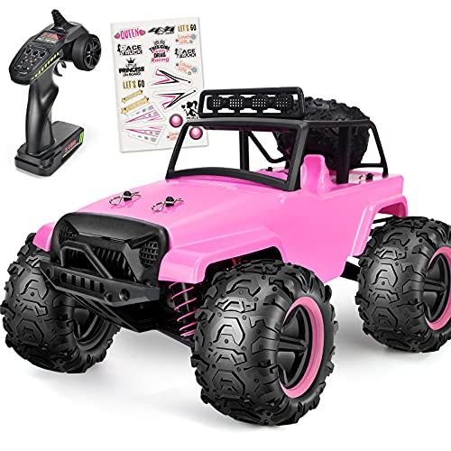 kolegend RC Cars High Speed Hobby Pink RC Trucks for Girls Kids Adults, 4WD Off-Road Monster Trucks 40+ KM/H 2.4GHz 2.4GHz Remote Control Racing Car