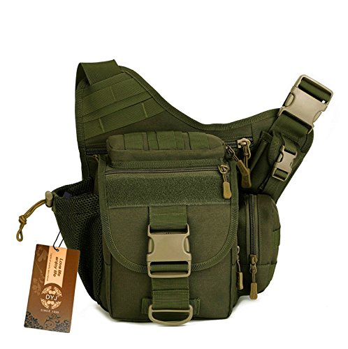 DYJ Multi-Functional Tactical Camera Messenger Bag Fishing Tackle Bag Military Shoulder Bag Backpack EDC Sling Pack for Hiking Camping Trekking Cycling