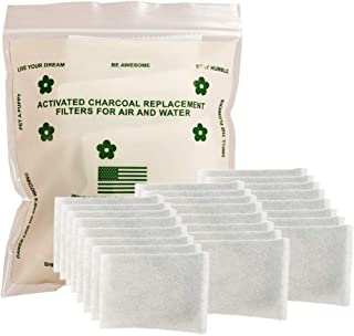 Green Piece - 24 Pack All-Natural Baby Diaper Pail Deodorizer | Activated Charcoal Air Purifier Compatible with Diaper Gen...