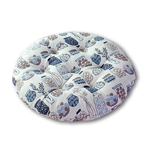 Ronde kussens voor tuinstoelen, zachte kussens, geschikte vorkkeukenstoelen, traagschuimmatten, antislipkrukken, ronde kussens,J