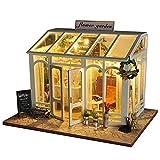 ZN Puppenhaus Bausatz Holz Modell Set Möbliert Zimmer,DIY Wooden Dollhous Miniatur 3D Gewächshaus...