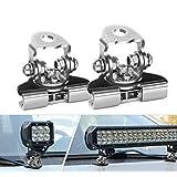 ワークライト 取付金具 2個入り 304ステンレス ブラケット ステー 板金 挟み込み LED 作業灯 ライトバー サーチライト 汎用 スタンド 2個セット 2年保証
