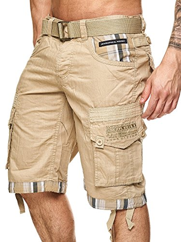 Geographical Norway Herren Cargo Short Priority in Beige Größe L