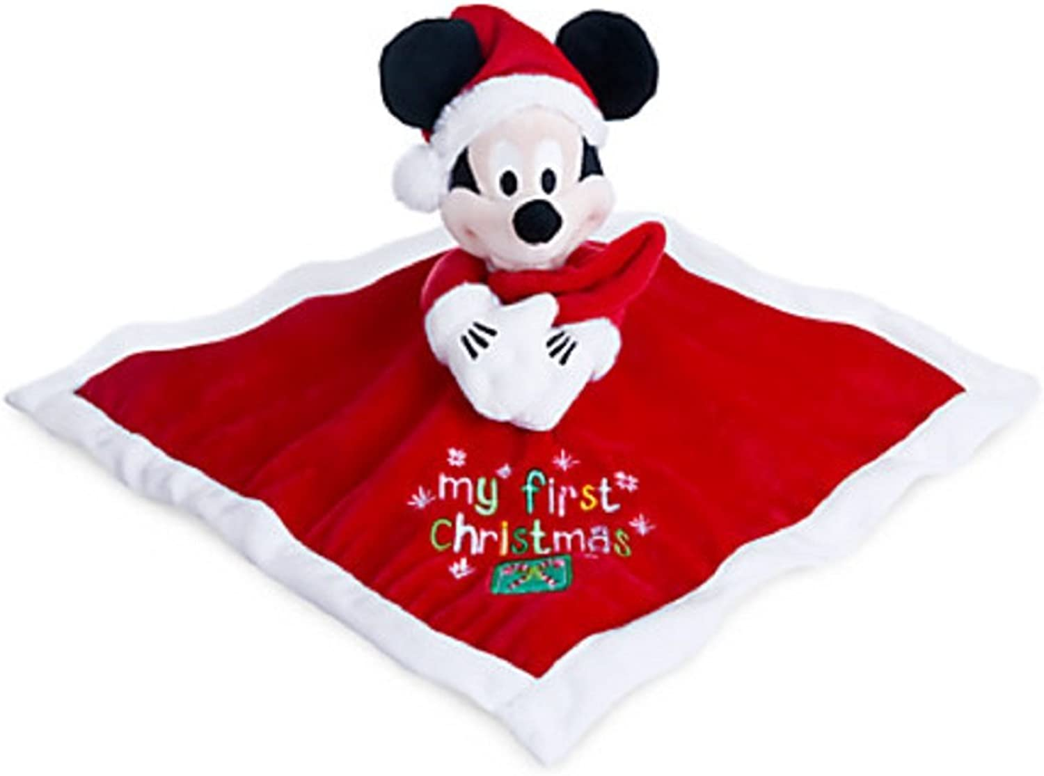 seguro de calidad Mickey Mouse ''My First Christmas'' Plush Plush Plush Blankie for Baby by Disney  gran descuento