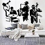 Jazz etiqueta de la pared saxofón instrumento reproductor de música vinilo arte de la pared decoración
