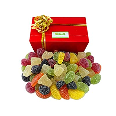 vegetarian fruit jellies 1 kilo gift box. soft fruit jelly sweets packed in a gift box and finished with ribbons. Vegetarian Fruit Jellies 1 Kilo Gift Box. Soft Fruit Jelly Sweets Packed in a Gift Box and Finished with Ribbons. 51ZFrNxNyaL