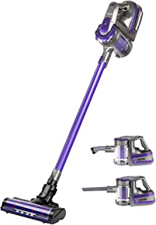 Devanti 150W Stick Handstick Handheld Cordless Vacuum Cleaner 2-Speed with Headlight Purple