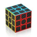 ROXENDA Cubo de Velocidad 3x3, Fibra de Carbono 3x3 Speed Cube, Más Rápido Que el Original, 57 mm (Fibra de Carbono)