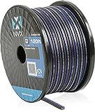 NVX Professional Grade OFC 8 Gauge True Spec Speaker Cable, 120 Ft (100% Oxygen-Free Copper) [XWS08120]
