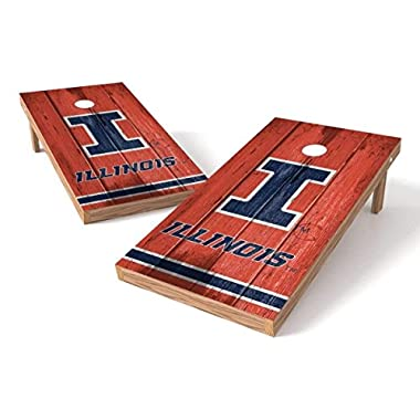 PROLINE NCAA College 2' x 4' Illinois Fighting Illini Cornhole Board Set - Vintage