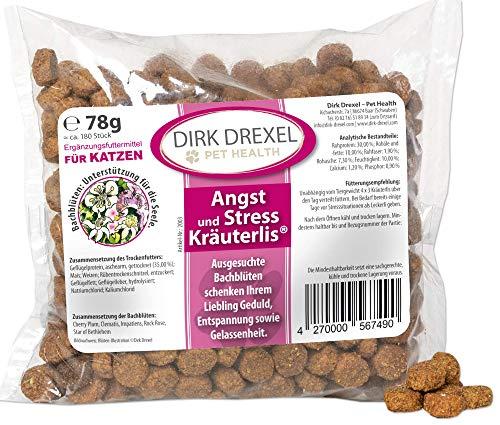 Dirk Drexel Relax Kräuterlis für Katzen 78g | Angst und Stress | mit Bachblüten | Innere Ruhe | Zur Harmonisierung | Beruhigungsmittel