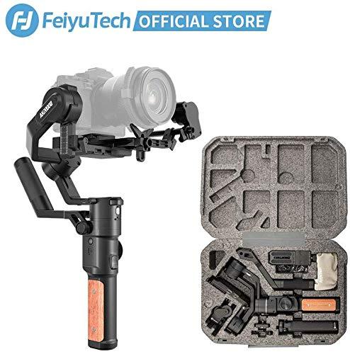 FeiyuTech AK2000S - Estabilizador Manual para cámara réflex Digital (3 Ejes, hasta 2,8 kg, para Canon 6D 5D Mark Nikon D500 D7500 Sony A9 A7R2 A6500 A7R3)