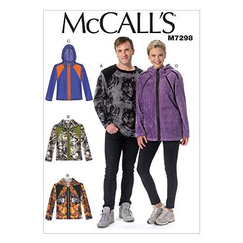 McCall 's Patterns 7298XM Größen klein–Groß Misses/Herren Top und Jacken Schnittmuster, Mehrfarbig